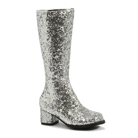 Silver Glitter Gogo Boots Girls' Child Accessory (Kids Silver Boots)