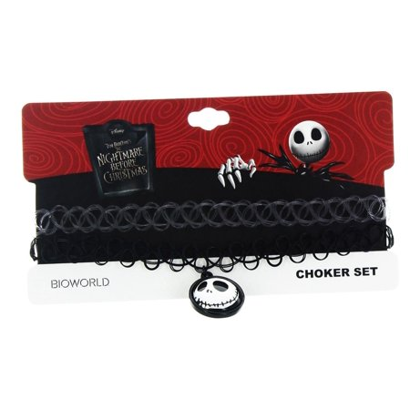 Nightmare Before Christmas Choker Necklace: Jack](Nightmare Before Christmas Couples Necklace)