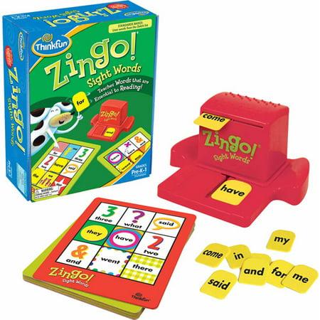 ThinkFun Zingo! Sight Words Game