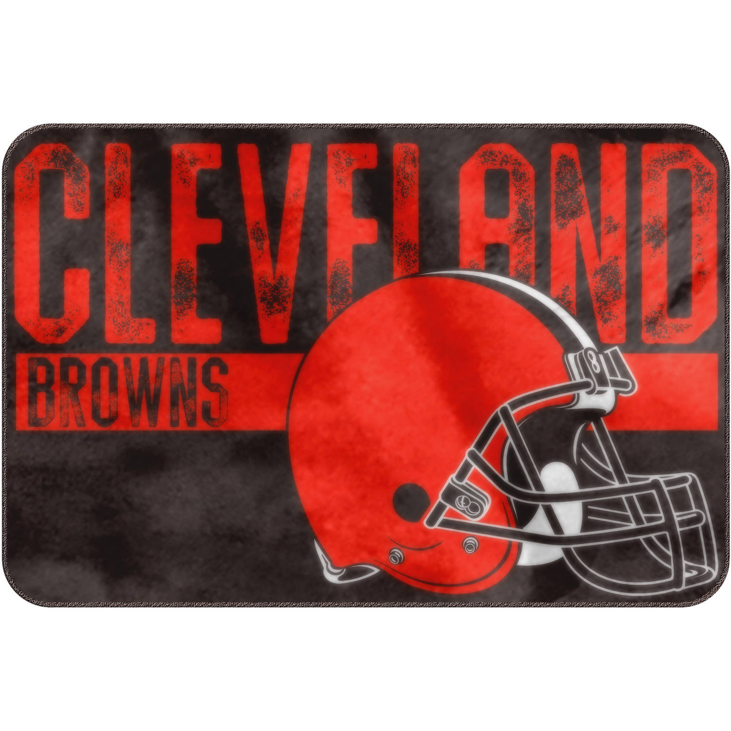 "NFL Cleveland Browns ""Worn Out"" Mat, 20"" x 30"""