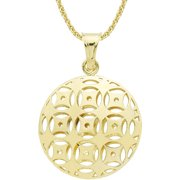 "Dolce Vita 18kt Gold-Tone Mosaic Pendant, 18"""