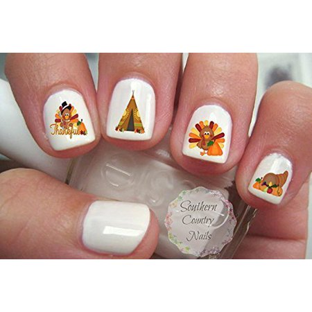 Thanksgiving Nail Art Decals By Southern Country Nails Walmart