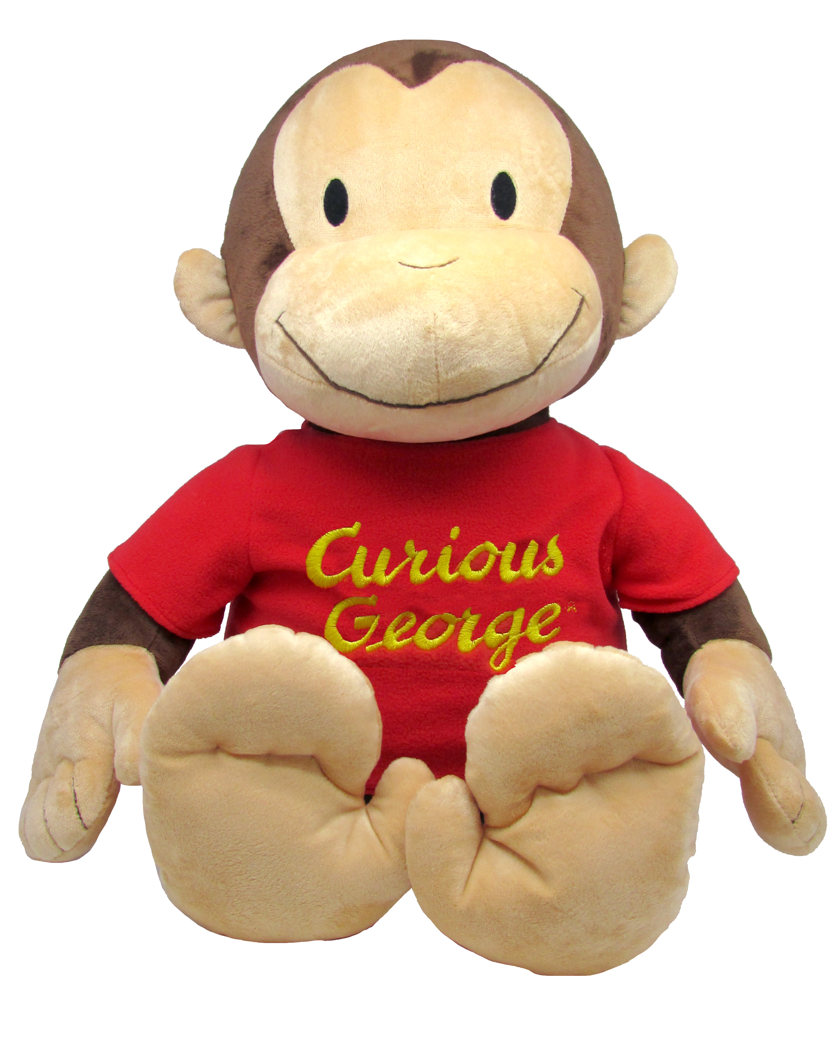"Curious George Jumbo 26"" Plush with Sound by Kids Preferred"