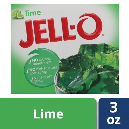Jello Pudding Halloween Desserts ((3 Pack) Jell-O Lime Gelatin Dessert, 3 oz)