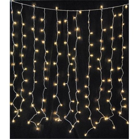 Winterland WL-CUR150CL-IN-WTW Incandescent Twinkle Light Curtain - Winterland Theme