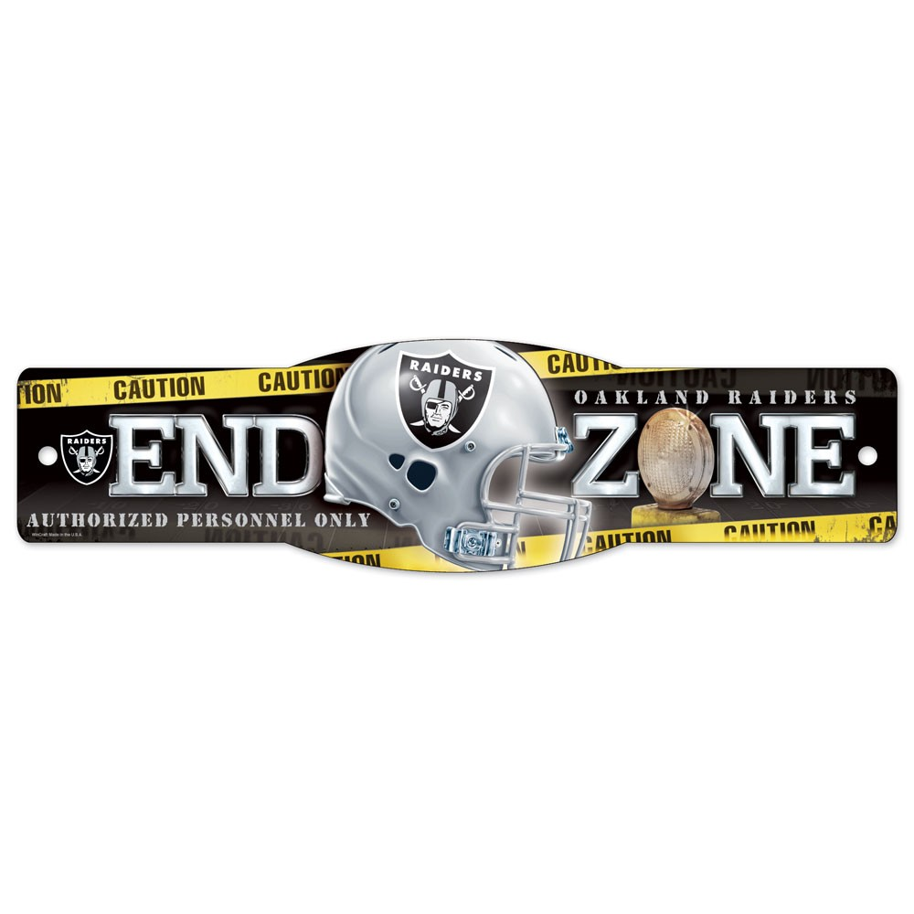 Oakland Raiders Official NFL 4 inch x 17 inch  Plastic Street Sign by Wincraft