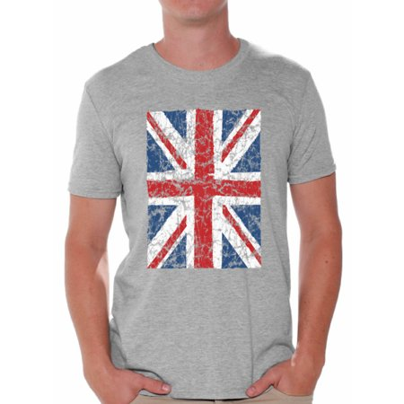Awkward Styles British Flag T Shirt for Men I Love England Shirt for Dad New England T Shirt for Boyfriend Patriotic United Kingdom Flag T Shirt for Men Birthday Gifts for Englishmen