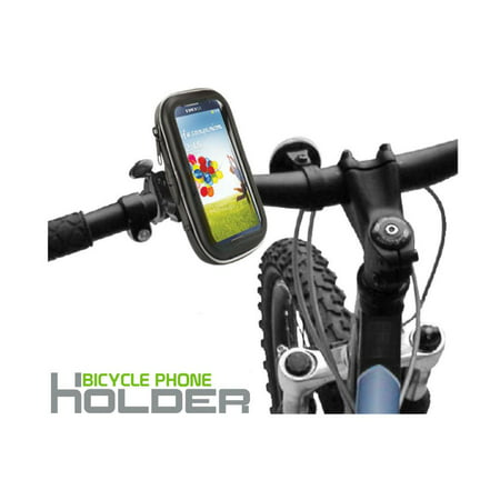 Weather Resistant Bike Handlebar Enclosed Padded Mount fits LG Aristo 2, Zone 4, Risio 3