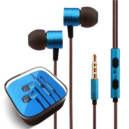 3.5mm Headphones In-Ear Earbuds Afflux Universal Stereo Headset Earphones For Cellphone Tablet iPhone 6 6S 5S SE 6/6S Plus Earbuds iPod iPad Samsung Galaxy S9 S8 S7 S6 Note 5 Note 8 9 LG