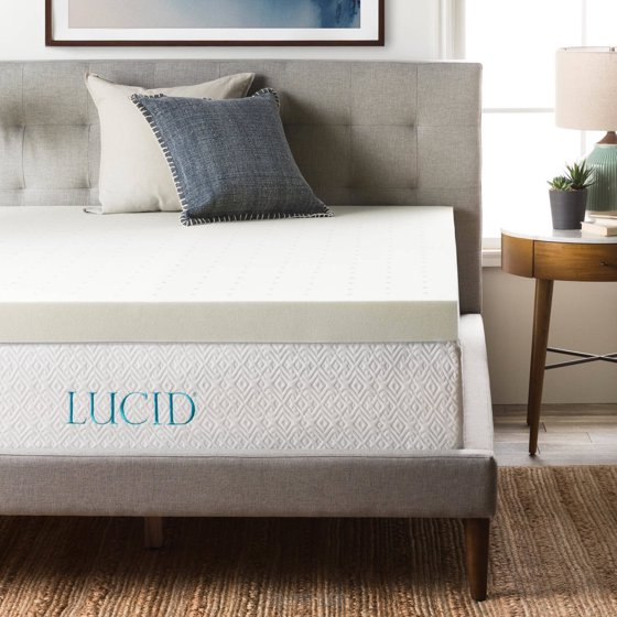 Lucid 4 Quot Premium Ventilated Memory Foam Mattress Topper