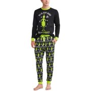 grinch holiday family pjs long sleeve tee jogger pants 2 piece pajama set - Walmart Christmas Pajamas