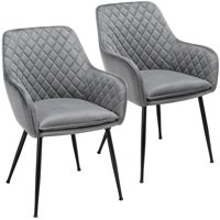 Deals on Set of 2 Kitchen Dining Chairs Living Room Corner Chair