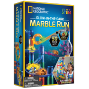 National Geographic Glow in the Dark Marble Run Kit, 50 Pieces, STEM Toy