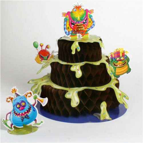 Happy Birthday 'Monster Party' Honeycomb Centerpiece (1ct)