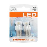 Sylvania 1156 White LED Automotive Mini Bulb, Pack of 2.