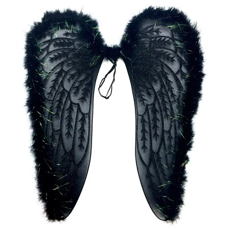 Pretend Play Dress Up Mozlly Black Fluffy Glittery Adult Angel Wings](Easy Dress Up Ideas For Adults)