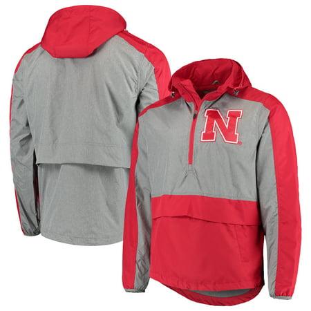 Nebraska Cornhuskers G-III Sports by Carl Banks Leadoff Hooded Half-Zip Pullover Jacket - Scarlet
