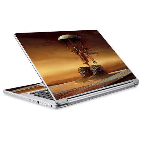 Skin Decal For Acer Chromebook R13 Laptop Vinyl Wrap / Fallen Soldier Remember Boots Rifle