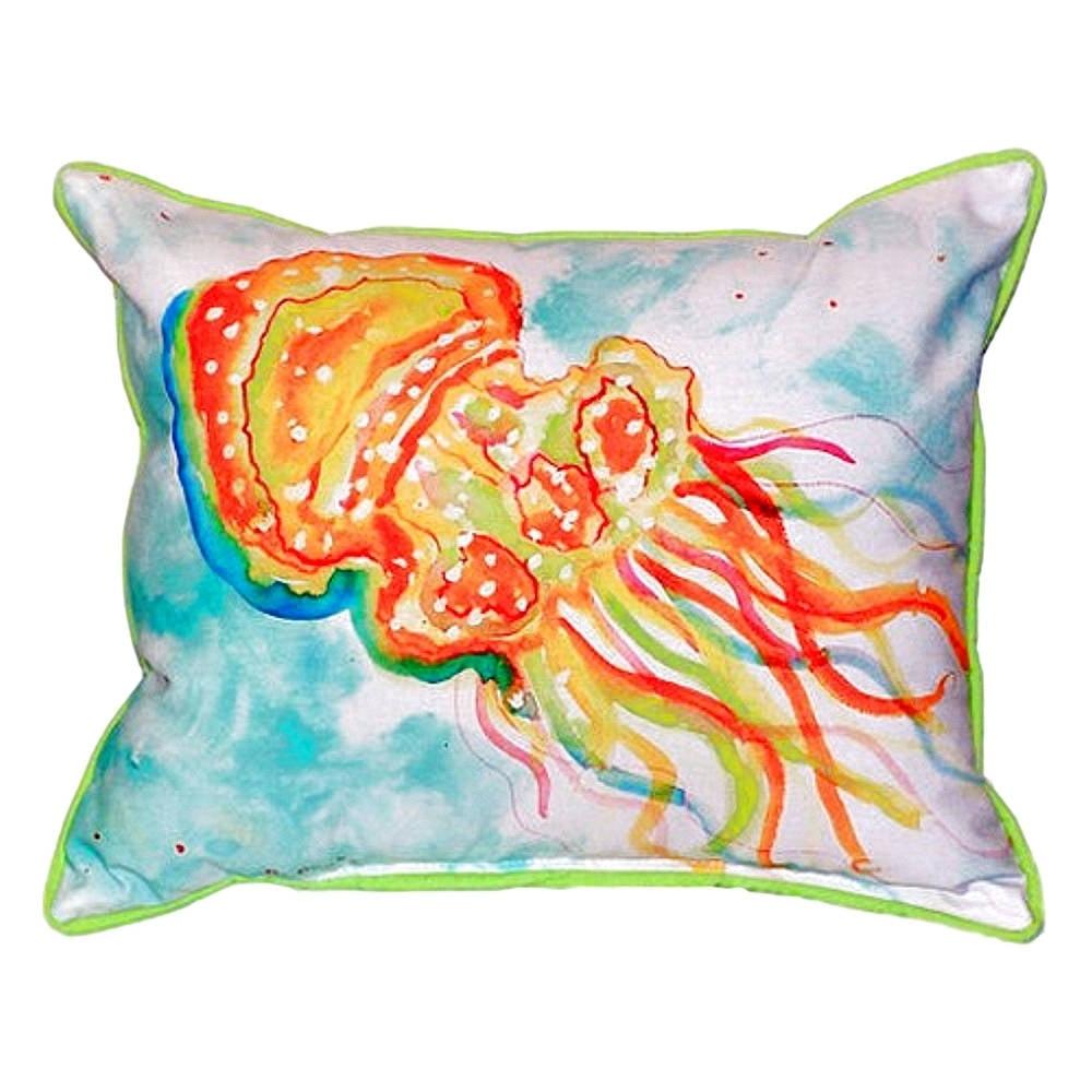 Betsy Drake Interiors Jellyfish Indoor Outdoor Lumbar Pillow Walmart Com Walmart Com