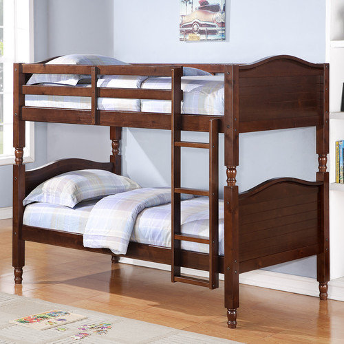 Kylie Twin-Over-Twin Bunk Bed, Espresso