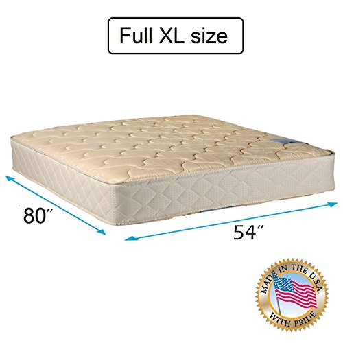 "Chiro Premier Orthopedic Gentle Firm (Beige Color) Full XL size Mattress Only (54""x80""x9"") - Fully Assembled, Good for your back, Superior Quality, Long Lasting and 2 Sided - By Dream Solutions USA"