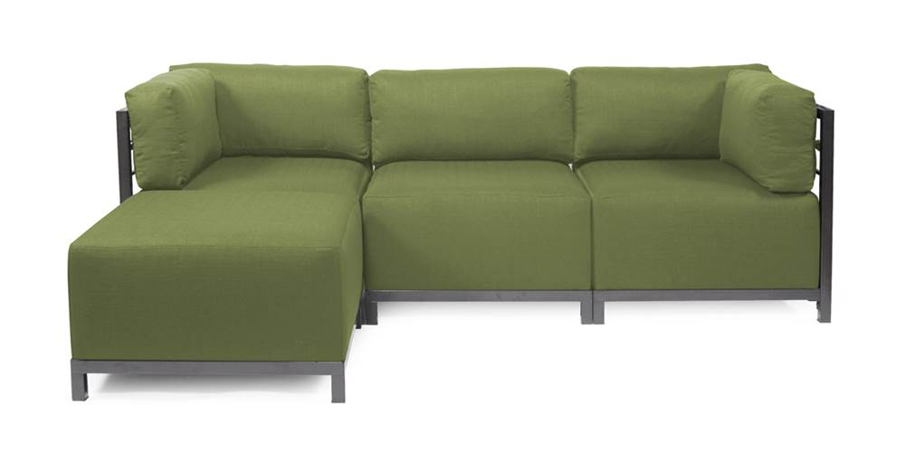 4-Pc Sectional in Seascape Moss by Howard Elliott Collection