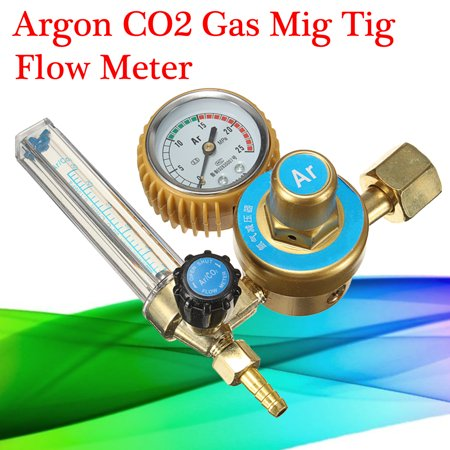 Argon CO2 Gas Mig Tig Flow Meter Regulator Welding Weld Gauge CGA580 G5/8-14