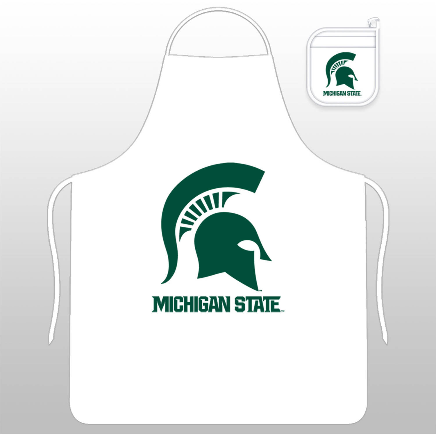 NCAA Michigan State Tail Gate Kit with Apron and Mitt