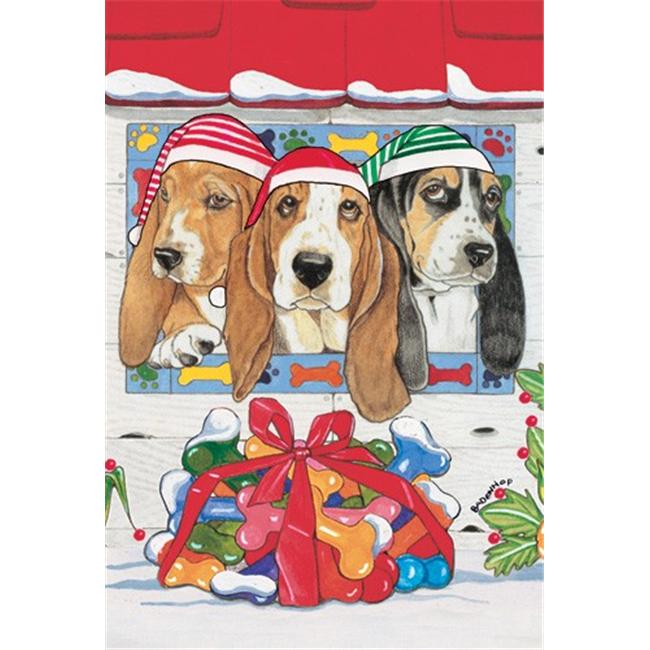 Pipsqueak Productions C482 Holiday Boxed Cards- Basset Hound