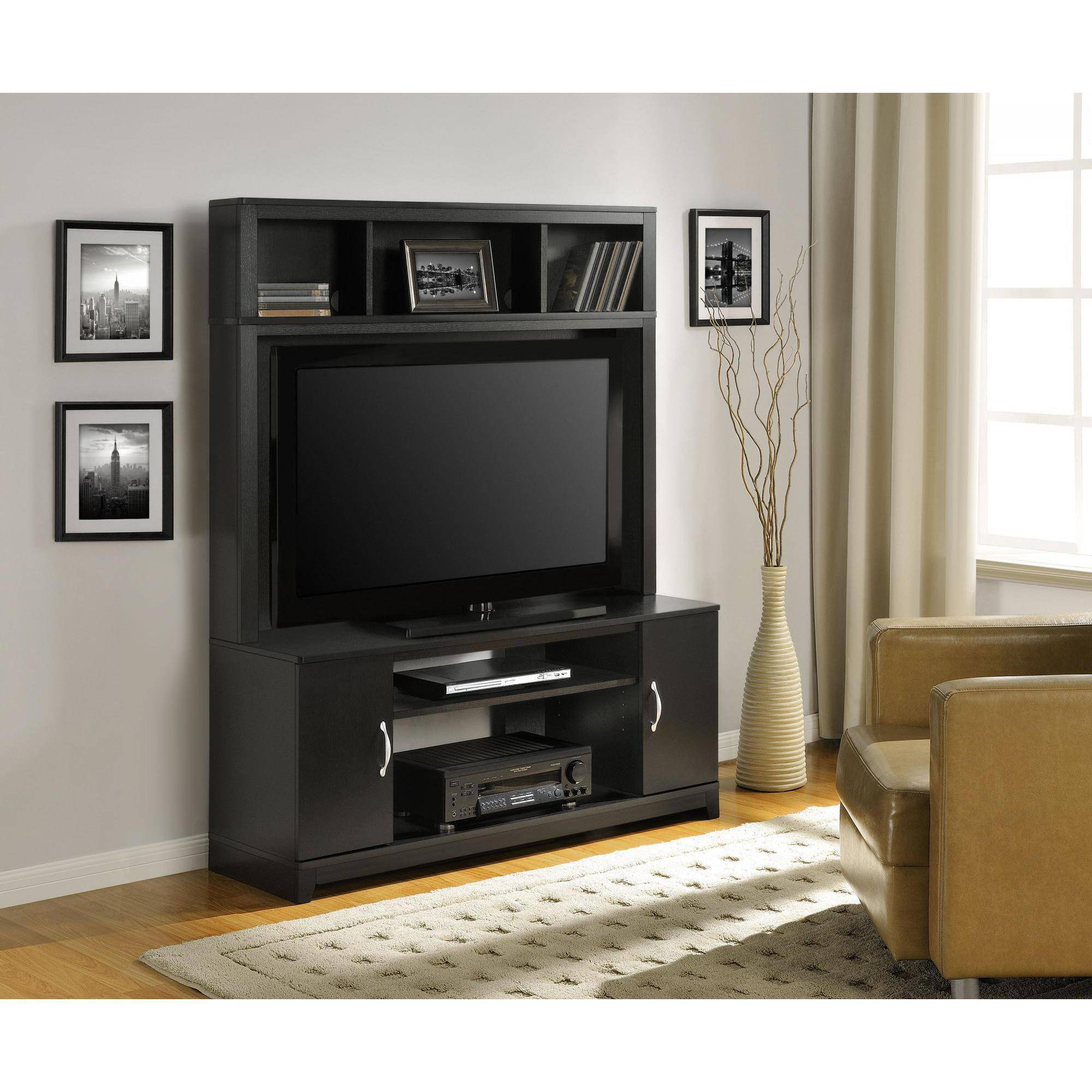 Ameriwood Home Woodland Entertainment Console, Black by Altra