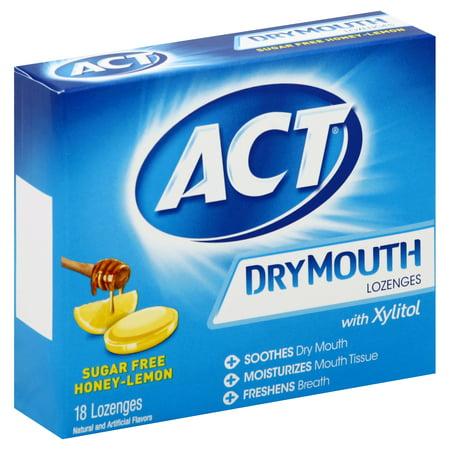 ACT® Dry Mouth Honey Lemon Xylitol Lozenges, 18ct Dry Mouth Moisturizing Gel