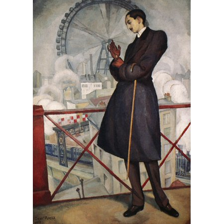 Adolfo Best-Maugard N(1891-1965) Mexican Artist Oil On Canvas By Diego Rivera 1913 Rolled Canvas Art -  (24 x
