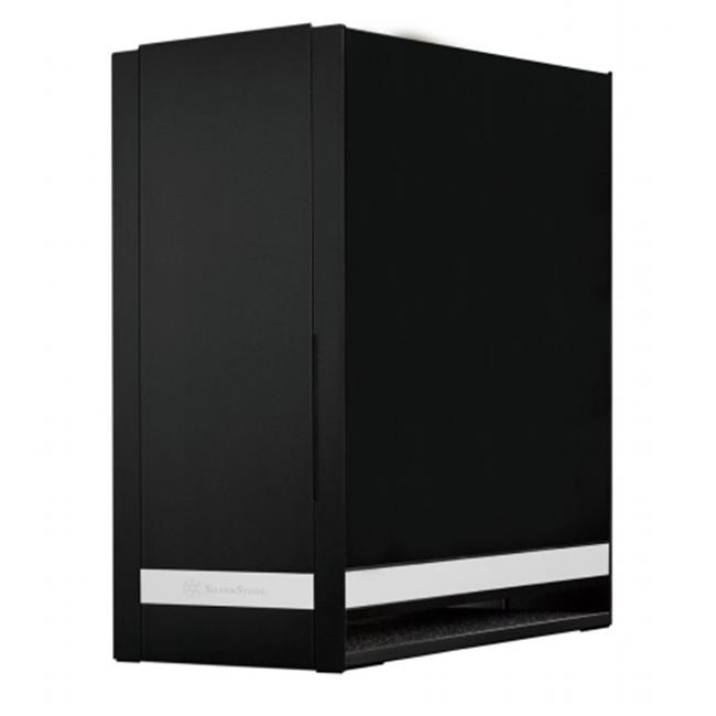 Silver Stone FT05B Tek Aluminum 90 Degree Motherboard Mounting Computer Case, Black by SilverStone Technology