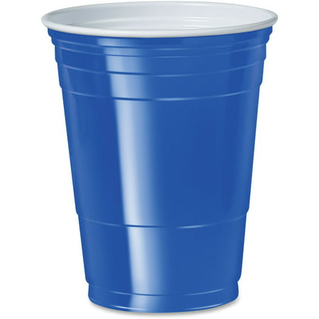 Coed Party (Solo, SCCP16B, Cup 16 oz. Plastic Cold Party Cups, 50 / Pack, Blue, 16 fl)