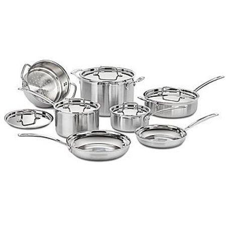 - Cuisinart 12-Piece MultiClad Cookware Set