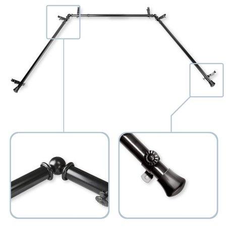 - Bloomsbury Market Newport Bay Window Curtain Single Rod and Hardware Set