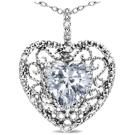 Star k heart shape 8mm genuine white topaz filigree heart pendant star k heart shape 8mm genuine white topaz filigree heart pendant necklace 10k white gold aloadofball Gallery