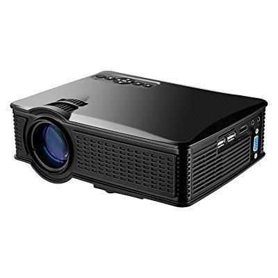 portable mini hd projector 1080p, 1500 lumens led video p...