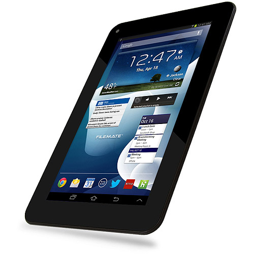 """FileMate Clear X4 7"""" Tablet 16GB Memory Quad-Core"""