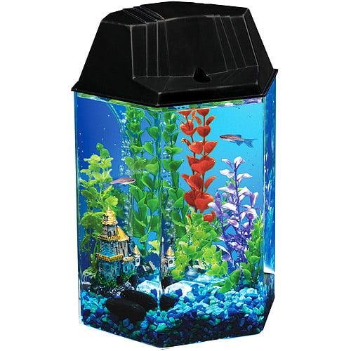 Walmart Warranty Plan >> Hawkeye 1.6 Gallon Hexagon Aquarium Kit - Walmart.com