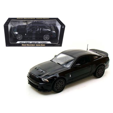 2013 Ford Shelby Mustang Cobra GT500 SVT Black with Black Stripes 1/18 Diecast Car Model by Shelby Collectibles