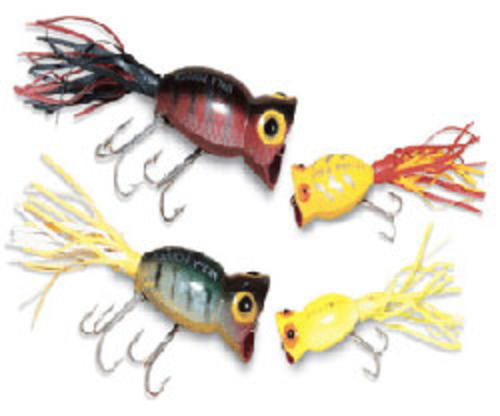 Arbogast Lure Company Hula Popper Fishing Lure (2-Inch-5-cm, Perch-Yellow White Skirt) Multi-Colored by ARBOGAST LURE COMPANY
