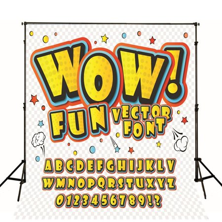 EREHome Polyester Fabric 5x7ft Cartoon Alphabet Number Photography Backdrop Cute Photo Background - image 1 of 1
