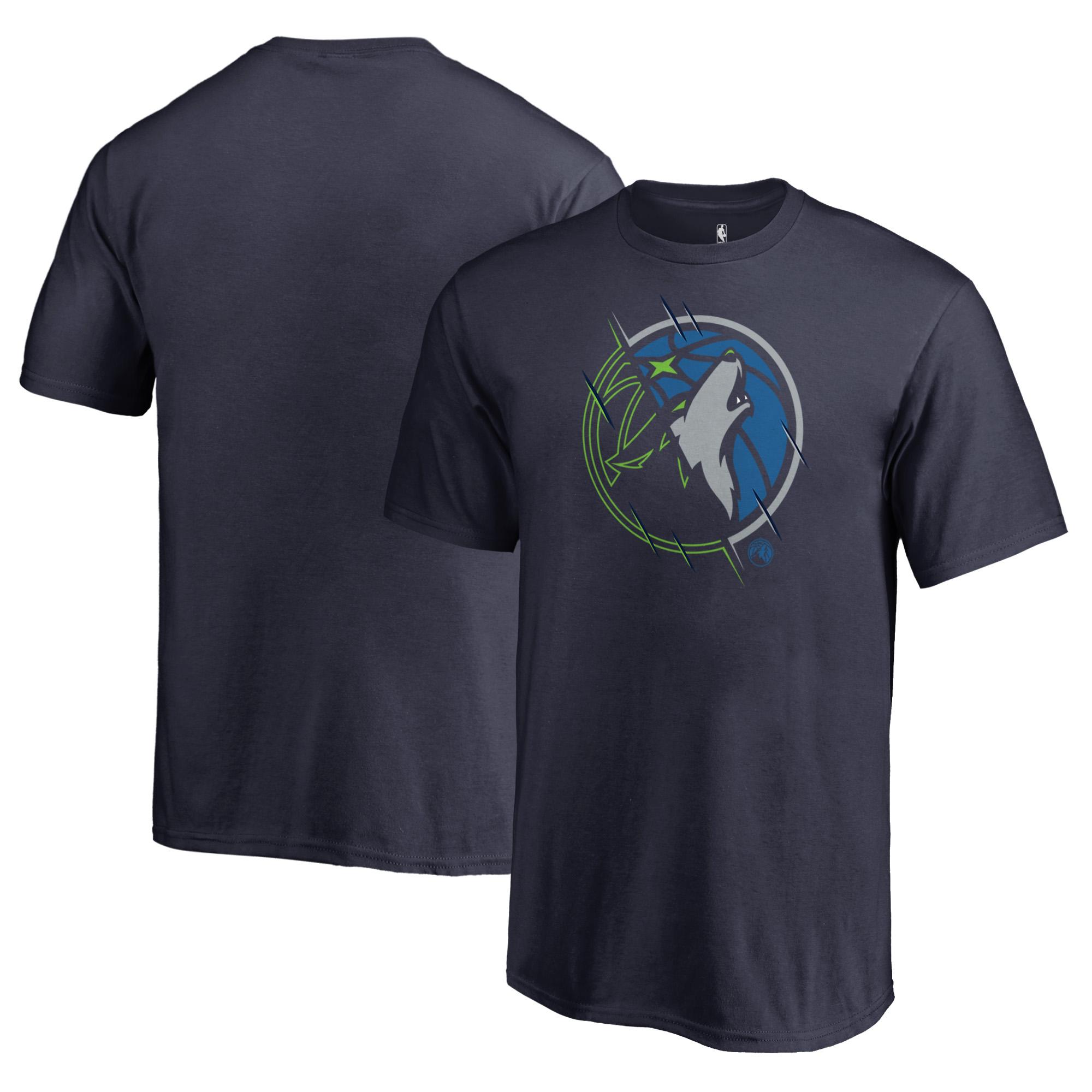 Minnesota Timberwolves Fanatics Branded Youth X-Ray T-Shirt - Navy