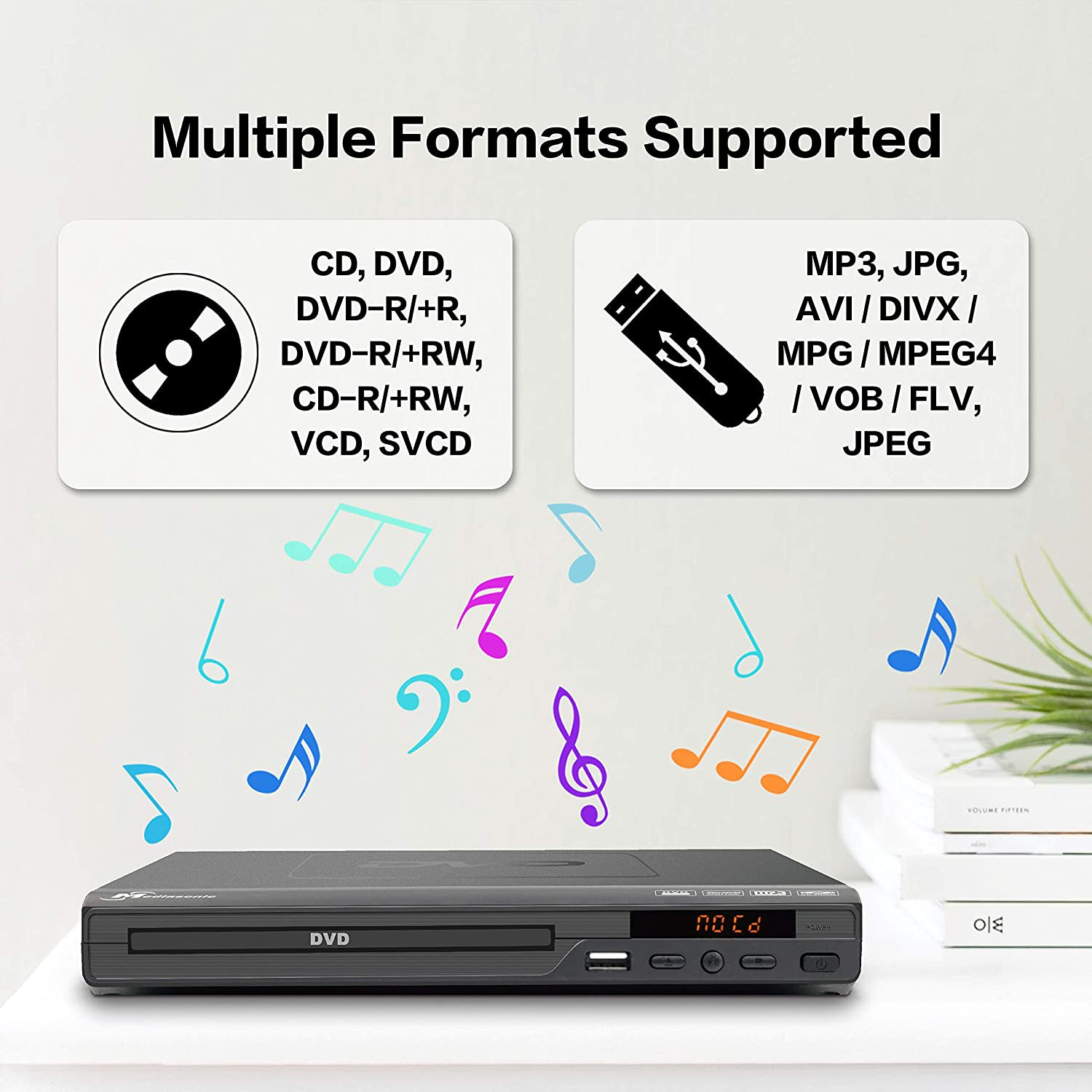 Mediasonic Dvd Player All Region Dvd Players For Home With Hdmi Av Output Usb Multimedia Player Function Walmart Canada