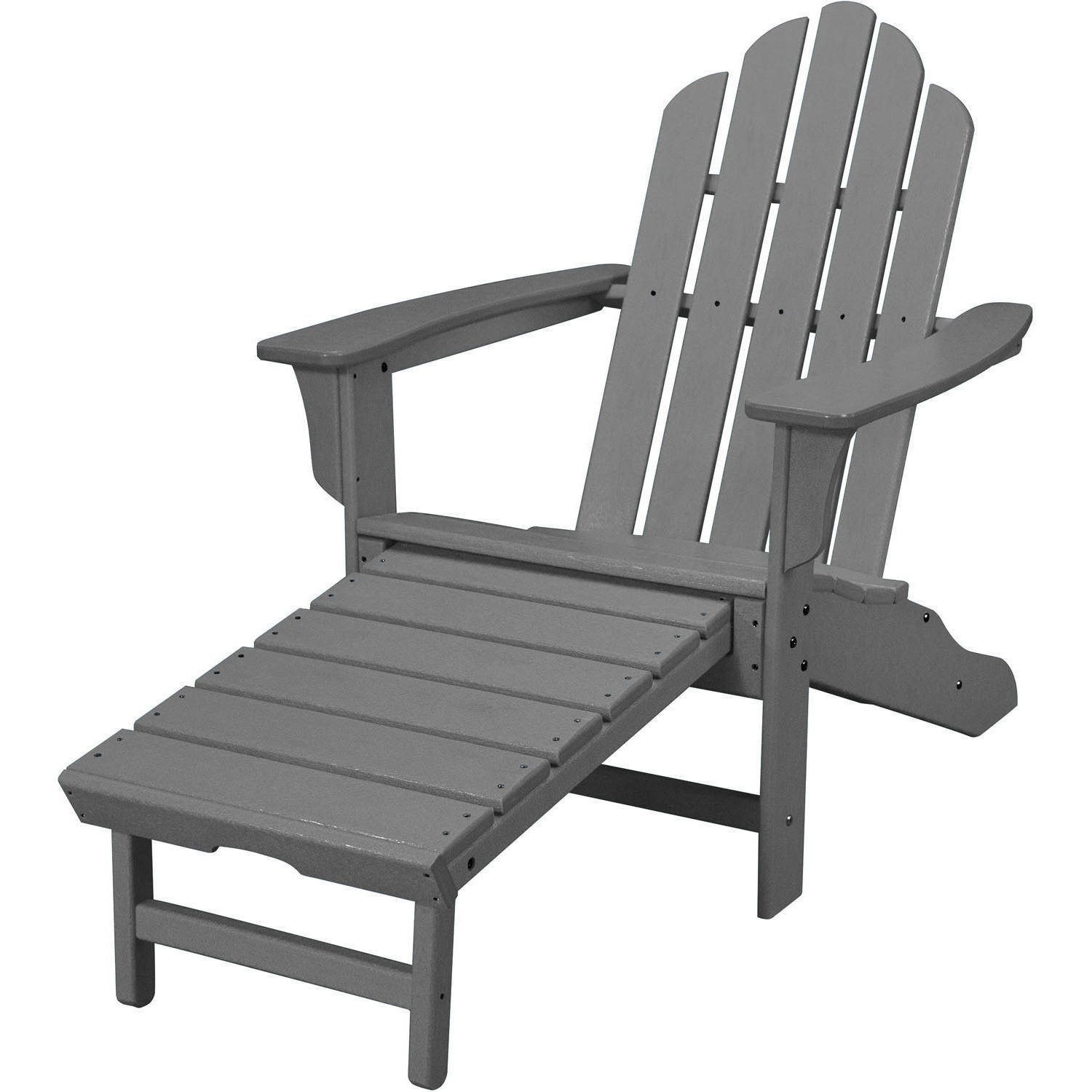 Hanover Outdoor All-Weather Contoured Adirondack Chair with Hideaway Ottoman by Hanover Outdoor
