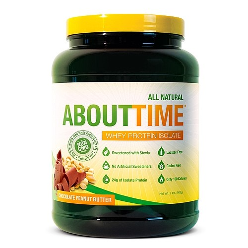 Image of About Time Whey Protein Isolate, Chocolate Peanut Butter, 2 Pound