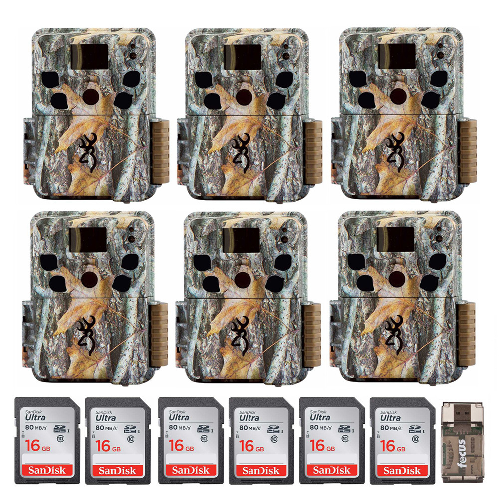 Browning Trail Cameras Dark Ops Pro (6-Pack) with 16GB Card (6-Pack) Bundle