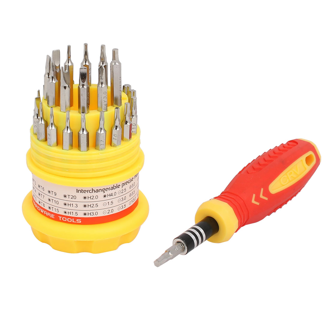 31 in 1 Magnetic Torx Slotted Hex Phillips Precision Screwdriver Set Tools Kit
