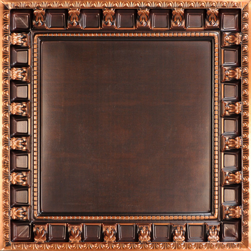 Parthenon 2 ft. x 2 ft. PVC Lay in Ceiling Tile in Antique Copper